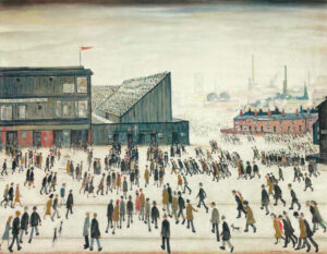 Going to the Match (1953) - LS Lowry
