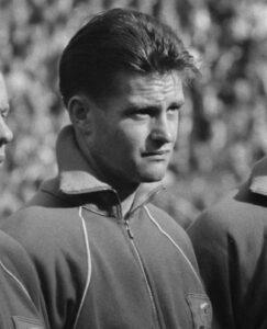 Kuys bij België-Nederland in 1960.
