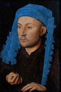Man met de blauwe kaproen (ca. 1430) - Jan van Eyck