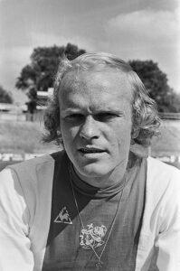 Ruud Geels in zijn eerste seizoen bij Ajax, einde voorbereiding seizoen 1974/1975.
