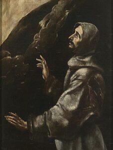San Francisco en éxtasis / De extase van St. Franciscus van Assisi (c. 1600) - El Greco