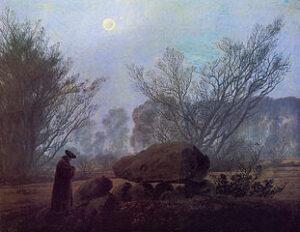 Spaziergang in der Abenddämmerung (Mann in Betrachtung eines Hühnengrabes) / Wandeling in de schemering (1830 - 1835) - Caspar David Friedrich