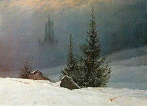 Winterlandschaft mit Kirche / Winterlandschap met kerk (1811) - Caspar David Friedrich