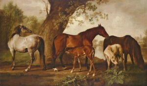 Mares and Foals (ca. 1765) - George Stubbs