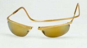 CliC Gold 18 Carat Gold Sports Sunglasses