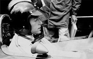 Dan Gurney op de Nürburgring in 1965 hij reed toen voor Brabham