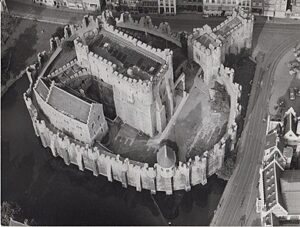 Gravensteen - luchtfoto uit 1970