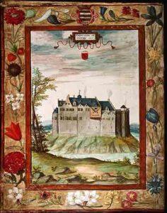 Het kasteel rond 1600 afgebeeld in de albums van Croÿ