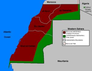 Bestuurlijke indeling van de Westelijke Sahara