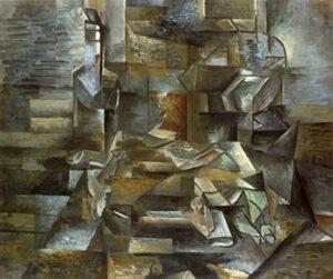 Bouteille et poissons / Fles en vissen (1910 - 1912) - Georges Braque