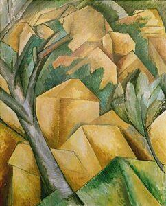 Maisons à l'Estaque / Maisons et arbre - Huizen in l'Estaque / Huizen en boom (1908) - Georges Braque