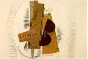 Violon et pipe (Le Quotidien) / Viool en pijp (De Krant) (1913) - Georges Braque