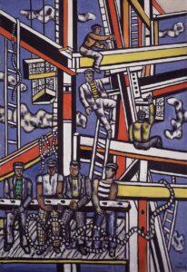 Les constructeurs au cordage / Bouwvakkers in de touwen (1950) - Fernand Léger