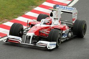 Kobayashi in de Toyota, 2009