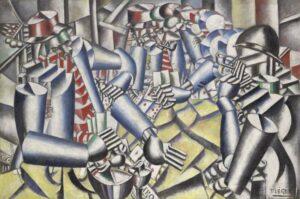 La partie de cartes / Kaartspelende soldaten (1917) - Fernand Léger