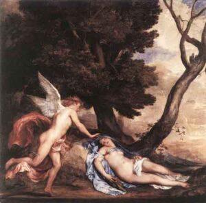Cupido en Psyche (1638-1640) - Anthony van Dyck