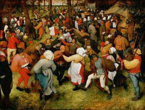 De boerenbruiloftsdans (1566) - Pieter Bruegel de Oude