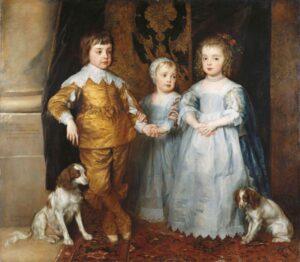De drie oudste kinderen van Charles I (1635) - Anthony van Dyck