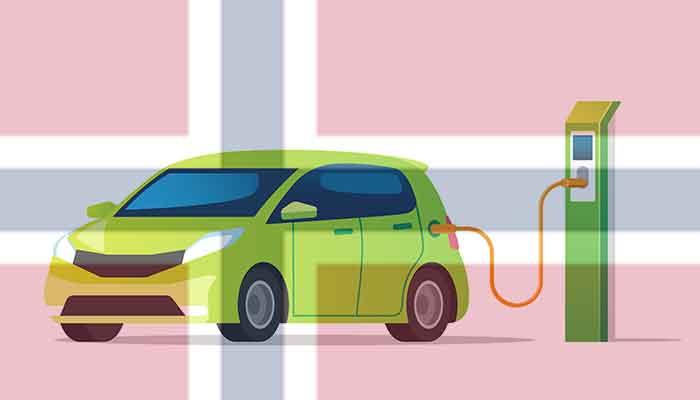 Top 18 landen met de meeste elektrische auto's 2021 in procenten