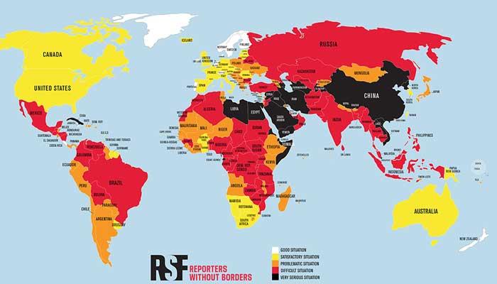 Top 180 landen en persvrijheid 2021 – World Press Freedom Index