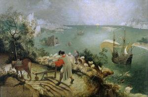 De val van Icarus (1558) - Pieter Bruegel de Oude