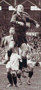 Bernard Voorhoof in de 8e finale van het Wereldkampioenschap voetbal 1938