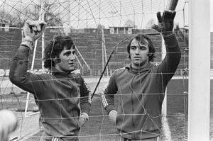 Jean-Marie Pfaff en Christian Piot (rechts)