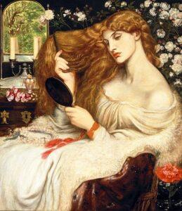 Lady Lilith (tussen 1866-1868 en 1872-1873) - Dante Gabriel Rossetti