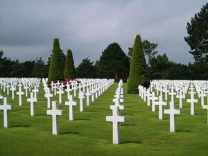 Overzicht van de begraafplaats.