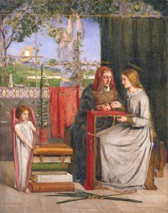 The Girlhood of Mary Virgin (1849) - Dante Gabriel Rossetti