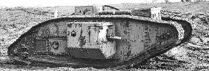 Britse Mark V (Male) tank