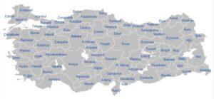 Provincies in Turkije