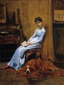 The Artist's Wife and His Setter Dog (1884-89) - Thomas Eakins