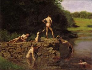 The Swimming Hole (1884-85) - Thomas Eakins
