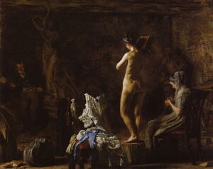 William Rush Carving His Allegorical Figure of the Schuylkill River (1876-77) - Thomas Eakins