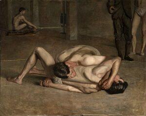 Wrestlers (1899) - Thomas Eakins