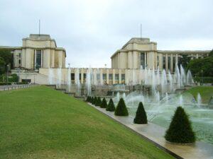 Een zicht op een deel van de Jardins du Trocadéro