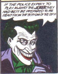 The Joker's debuut in Batman #1 (25 april 1940)