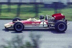 Graham Hill op de Nürburgring in 1969