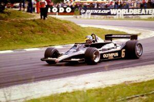 Ronnie Peterson met zijn Lotus 79 tijdens de GP van Groot-Brittannië in 1978 British