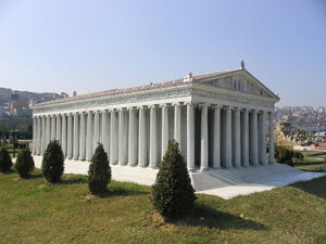Tempel van Artemis: maquette van de originele uitvoering